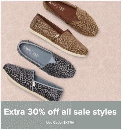 TOMS Canada Sale on Sale: Save an Extra 30% Off Sale Styles with Coupon Code!