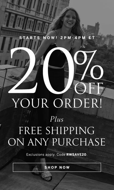 20% off + free shipping on any order!