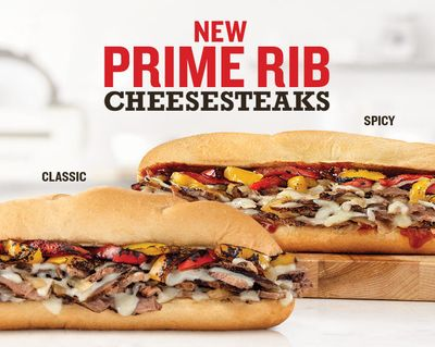 New, Limited Time Only Prime Rib Cheesesteak Sandwiches at Arby's