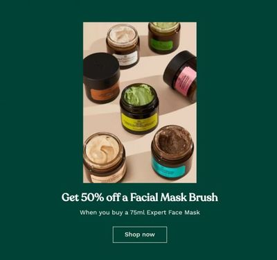 The Body Shop Canada Deals: Save 50% OFF Facial Mask Brush + More