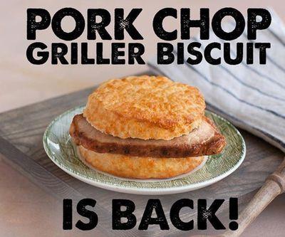 Pork Chop Griller Biscuit Returns for a Limited Time Only at Bojangles