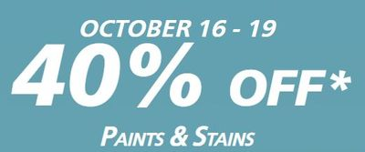 40% Off INTERIOR & EXTERIOR PAINT AND COATINGS At Sherwin-Williams Canada