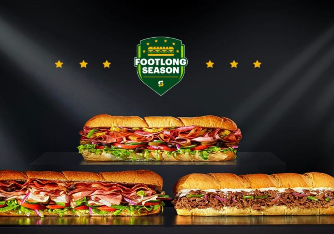 It's Footlong Season: Buy 2 Footlong Subs and Get 1 For Free at Participating Subway Locations