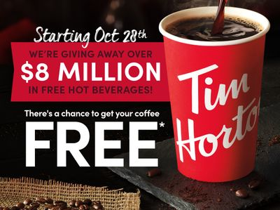 Tim Hortons Canada Giving Away $8 Million in FREE Beverages!