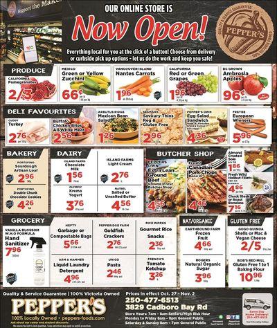 Pepper's Foods Flyer October 27 to November 2