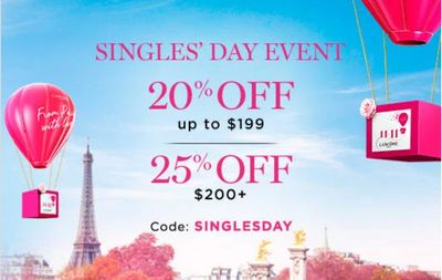 Lancôme Canada Pre Black Friday Sale: Save 20% – 25% off with Coupon Code + FREE Gift on Orders Over $111