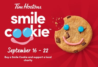 Tim Hortons Canada Promotion: $1 Smile Cookie