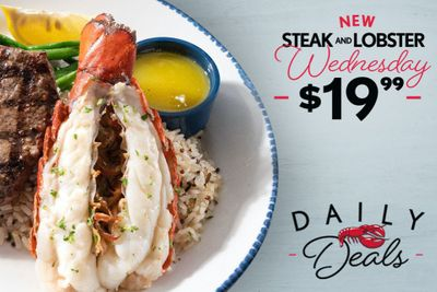 Red Lobster Switches to a New Daily Deal on Wednesdays: Introducing $19.99 Steak & Lobster Wednesdays