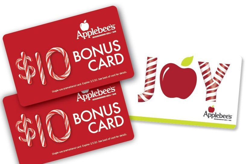 Get a Free $10 Applebee's Gift Card when you Give a $50 Applebee's Gift Card