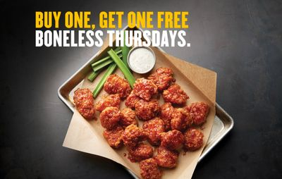BOGO Boneless Thursdays Now Offered with Boneless Chicken Wings at Buffalo Wild Wings