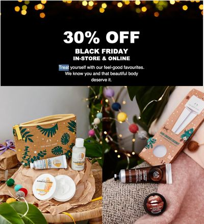 The Body Shop Canada Black Friday Sale: Save 30% Off Sitewide + Buy 1 Get 1 50% Off Gift Sets + Enjoy Filled Pouch for $15 ($40 Value)
