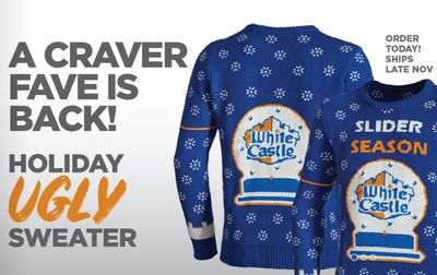 New Holiday Merch Arrives at White Castle's House of Crave Online Store