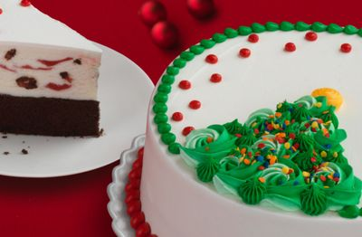 New Rosette Christmas Tree Cakes Roll out for the Holidays at Baskin-Robbins