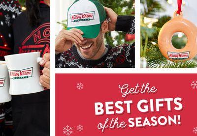 Krispy Kreme Celebrates the Holidays with Festive New Merch Available Online