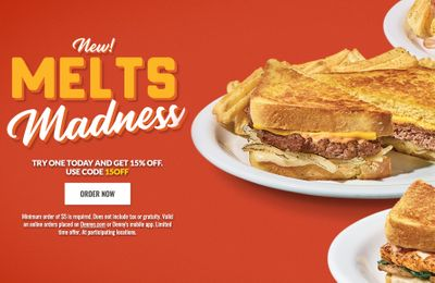 Get 15% Off a Denny's Melt Sandwich with Denny's New Promo Code for a Limited Time Only