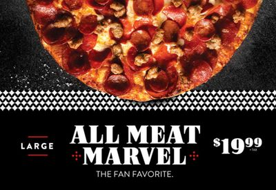 Get a Large All Meat Marvel Pizza for $19.99 at Round Table Pizza