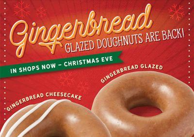 Krispy Kreme Brings Back Popular Holiday Gingerbread Glaze Doughnuts