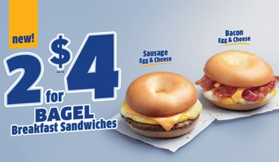 Jack In The Box Announces New 2 for $4 Bagel Breakfast Sandwiches Deal