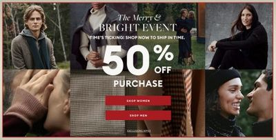Banana Republic Canada Christmas Holiday Deals: Save 50% OFF All Orders + Extra 50% OFF Sale
