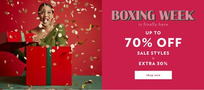 Reitmans Canada Boxing Day Sale *LIVE* Now: Save up to 70% off Sale Styles + Extra 30% off & Extra 30% off Everything Else