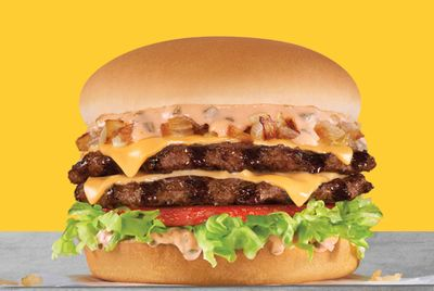Spend $20 or More on an Uber Eats Order at Carl's Jr. and Get a Free California Classic Double Cheeseburger