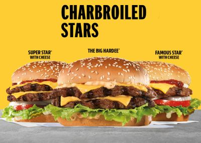 New Charbroiled Stars Cheeseburgers Now Available from Hardee's