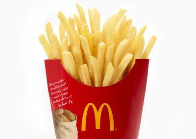 McDonald's In-app Offer for a $1 Order of Large Fries Available Weekly through to June 27