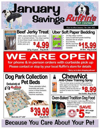 Rufiin's Pet Centre Flyer January 7 to 24
