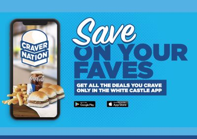 All Craver Nation Members will Receive 20% Off with In-app Orders at White Castle for a Limited Time Only
