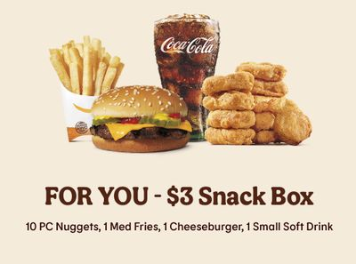 Save with the New $3 Snack Box at Burger King: Chicken Nuggets, Fries & More