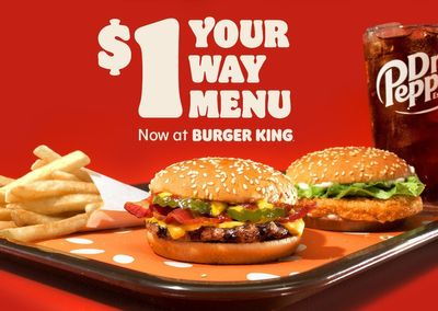 Burger King Rolls Out the New, Limited Time Only $1 Your Way Menu: Save on Burgers, Sandwiches & More