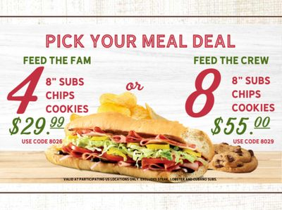 Quiznos Offers Feed the Fam and Feed the Crew Meal Deals with New Promo Codes