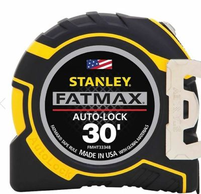 """Stanley FatMax 30ft Auto-Lock Tape Rule, 1-1/4"""" Blade (FMHT33348) For $19.97 At Staples Canada"""