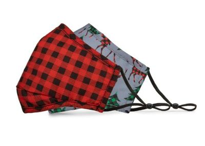 BondStreet Non-Medical Reusable Masks + Filter - Grey Rain & Red Checkered For $1.97 At Staples Canada