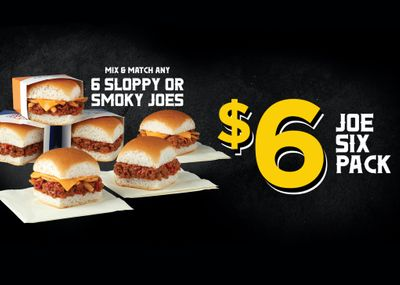 Mix and Match 6 Sloppy Joe or Smoky Joe Sliders for Only $6 at White Castle