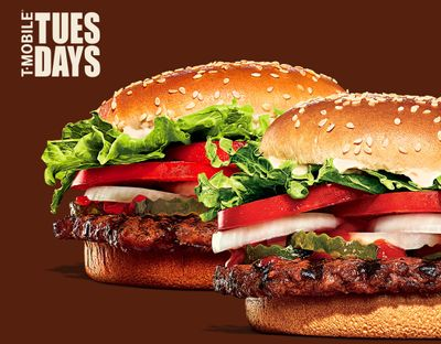 T-Mobile Customers Watch Out for T-Mobile Tuesdays and In-app Whopper Freebies at Burger King