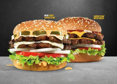 New Fiery Super Star Burger with Double the Cheese and Beef Lands at Hardee's for a Limited Time