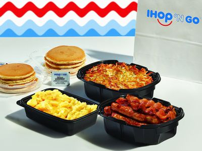 Save with IHOP's Breakfast Themed Family Feasts: Scrambled Eggs, Hash Browns, Pancakes, Bacon & More