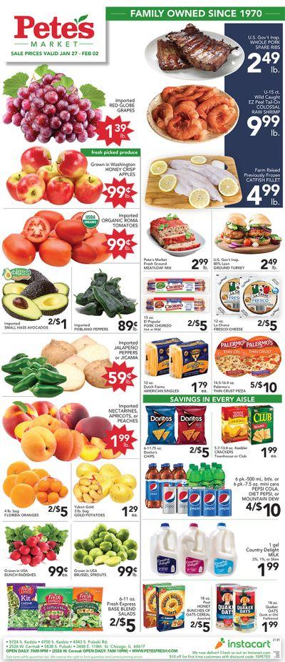 Pete's Fresh Market Weekly Ad Flyer January 27 to February 2, 2021