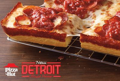 New Detroit-Style Pizza is Being Dished Up in 4 Tasty Varieties at Pizza Hut Restaurants Nationwide