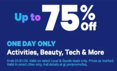 Groupon Canada Deals: Save up to 75% off Activities, Beauty, Tech & More