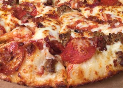 For a Limited Time Only Get a Medium Pan Pizza with 2 Toppings for $8.99 at Domino's Pizza