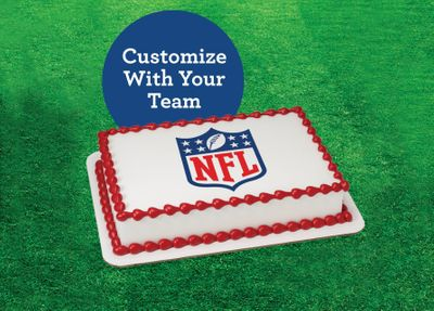 Football and Officially Licensed NFL Team Ice Cream Cakes are Now Available at Baskin-Robbins