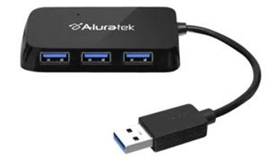 Aluratek AUH2304F - Hub - 4 x SuperSpeed USB 3.0 - desktop For $19.99 At Dell Canada
