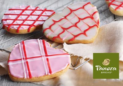 Freshly Baked 6 Packs of Valentine's Day Cookies are Now Available at Panera Bread