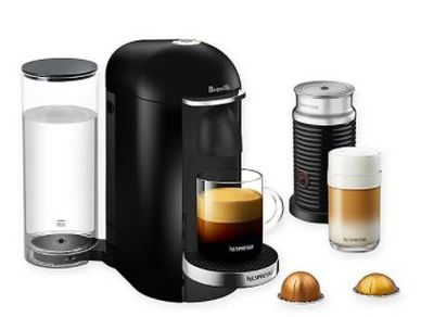 Nespresso  by Breville  VertuoPlus Deluxe Coffee and Espresso Maker Bundle in Black For $191.00 At Bed Bath & Beyond Canada