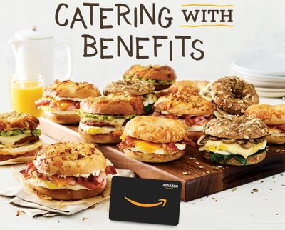 Order Catering from Einstein Bros. Bagels and Get a Free Amazon Gift Card Through to March 31
