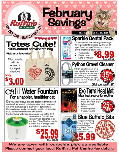 Rufiin's Pet Centre Flyer February 4 to 21