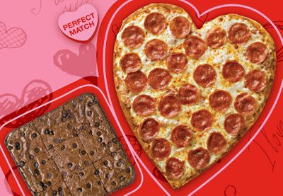 This Valentine's Day Papa John's Celebrates with their Heart Shaped Pizza