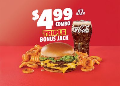 The Popular $4.99 Triple Bonus Jack Combo Returns to Jack In The Box for a Limited Time